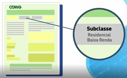 campo de subclasses na conta de energia