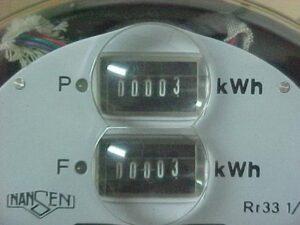 Medidor com dois registradores